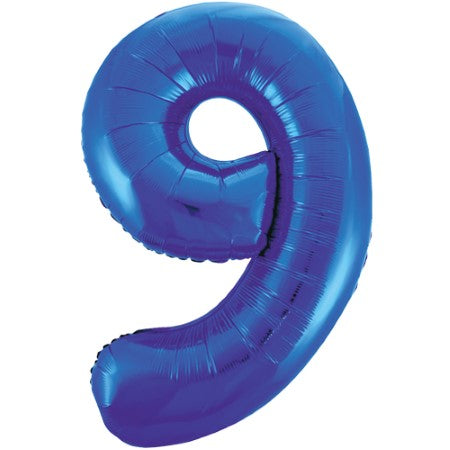 Gigantic Blue Foil Number 9 Balloon, 34 Inches I My Dream Party Shop