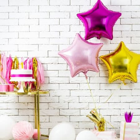 Metallic Pink Star Foil Balloon I Modern Foil Balloons I My Dream Party Shop UK