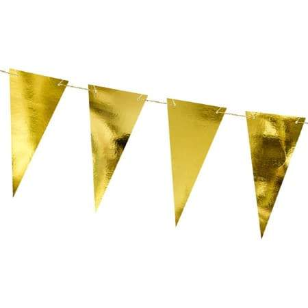 Gold Triangle Bunting I Gold Decorations and Garlands I My Dream Party Shop I UK