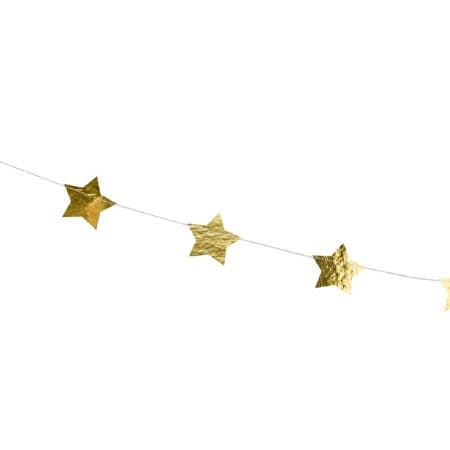 Gold Star Garland I Metallic Stars on a Garland I My Dream Party Shop I UK
