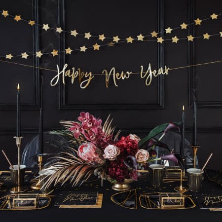 Gold Star Garland I New Year's Eve Decorations I My Dream Party Shop UK