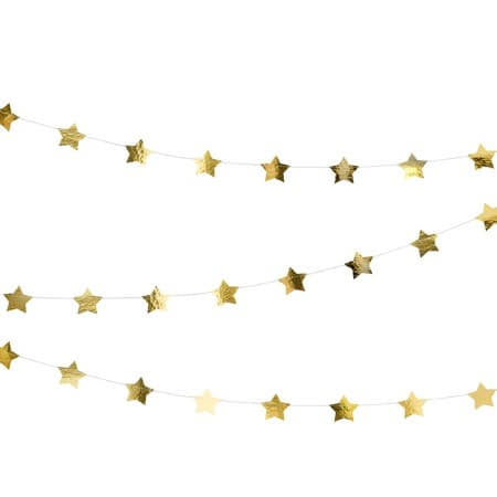 Gold Star Bunting I Metallic Gold Stars I My Dream Party Shop I UK