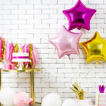 Pink Star Foil Balloon I Modern Party Balloons I My Dream Party Shop I UK