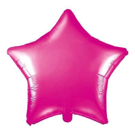 Metallic Dark Pink Star Balloon I Cool Foil Balloons I My Dream Party Shop I UK