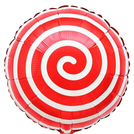 Metallic Red Lollipop Balloon I Cool Foil Balloons I My Dream Party Shop UK