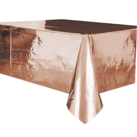 Metallic Rose Gold Table Cover I Rose Gold Party Tableware I My Dream Party Shop UK