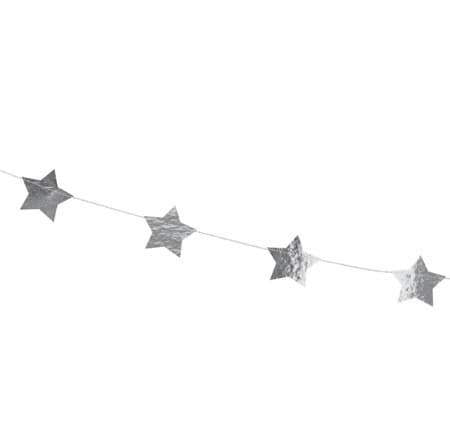 Silver Star Garland I Modern Silver Decorations I My Dream Party Shop I UK