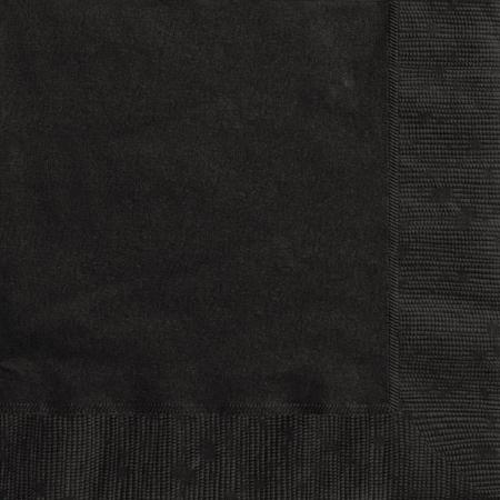 Midnight Black Napkins I Modern Black Party Supplies I My Dream Party Shop UK