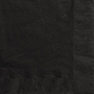Midnight Black Napkins Pack of 20 - My Dream Party Shop