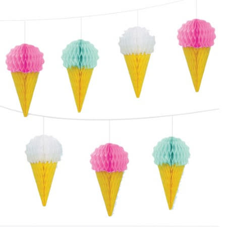 Mini Honeycomb Ice Cream Garland I Ice Cream Party Decorations I My Dream Party Shop UK