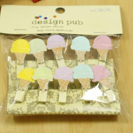 Mini Ice Cream Garland Pegs and Twine I Ice Cream Party Supplies I My Dream Party Shop UK