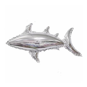 Small Silver Foil Shark Balloon I Under the Sea Party Theme I Cool Party Balloons I My Dream Party Shop I UK