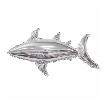 Large Silver Foil Shark Balloon I Under the Sea Party Decorations I My Dream Party Shop I UK