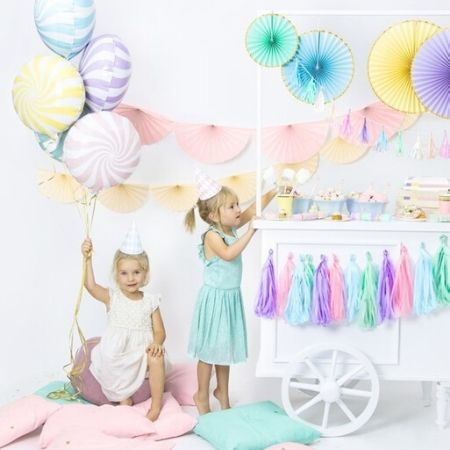 Mint Green Swirl Foil Balloon I Mint Green Party Decorations I My Dream Party Shop UK