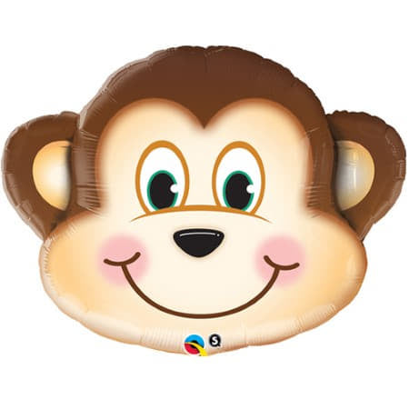 Mischievous Monkey Foil Balloon 35 Inches I Jungle Party Supplies I My Dream Party Shop UK