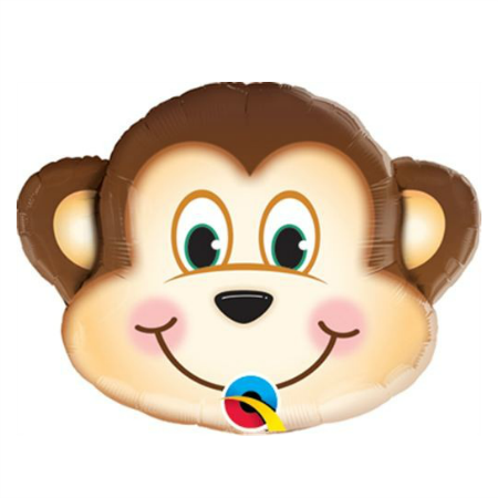 Mischievous Monkey Foil Balloon 14 Inches I Jungle Party Balloons I My Dream Party Shop