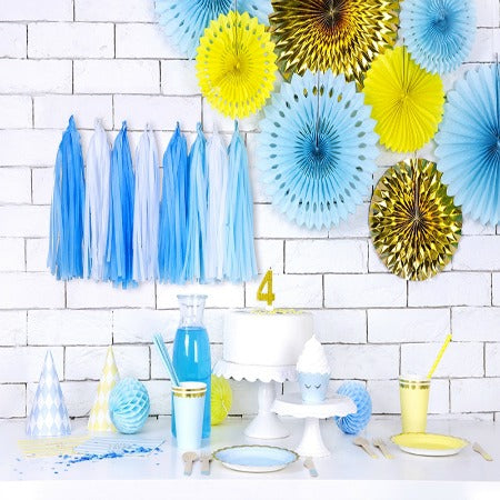 Blue and White Tassel Garland - My Dream Party Shop