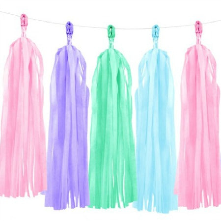 Pastel Tassel Garland I Pretty Pastel Decorations I My Dream Party Shop I UK