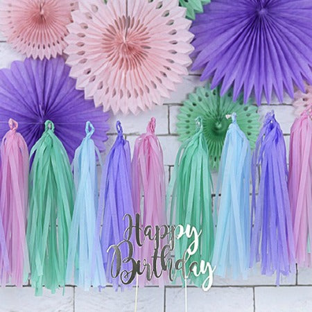 Pastel Tassel Garland I Modern Pastel Decorations I My Dream Party Shop I UK