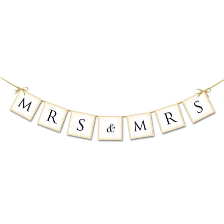 Cream Mr and Mrs Wedding Garland I Cool, Modern Wedding Decorations, Balloons and Accessories I My Dream Party Shop I UK