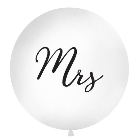 Giant Round White Mrs Balloon I Stunning Wedding Decorations I UK