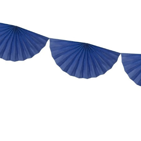 Navy Blue Tissue Rosette Fan Garland I My Dream Party Shop I UK