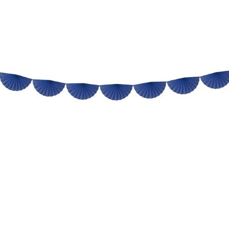 Navy Blue Tissue Fan Garland I Modern Party Supplies I UK