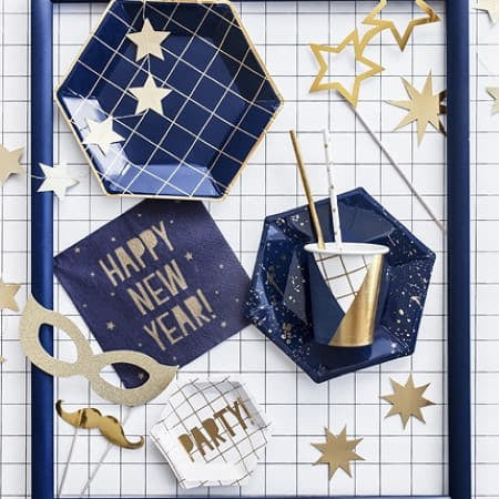 Navy and Gold Cups I Stylish Party Tableware I My Dream Party Shop UK