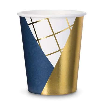 Navy and Gold Cups I Stylish Party Supplies I UK