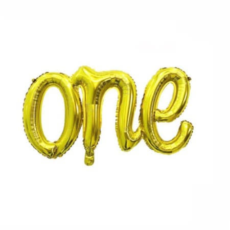 Gold One Word Balloon I First Birthday Balloons I My Dream Party Shop I UK