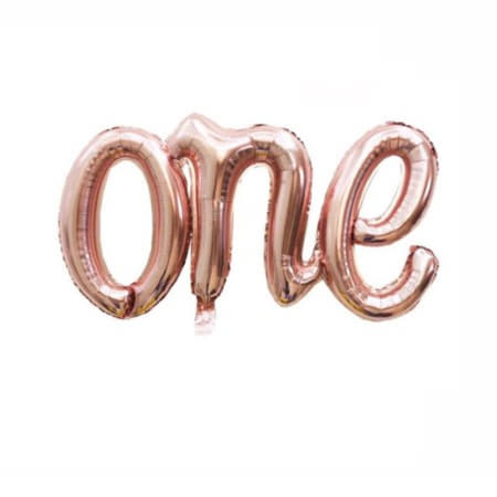 Rose Gold One Word Balloon I First Birthday Decorations I My Dream Party Shop I UK