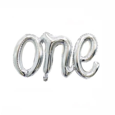 Silver One Word Balloon I First Birthday Balloons I My Dream Party Shop I UK