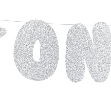 One Silver First Birthday Banner I My Dream Party Shop I UK
