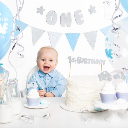 Remarkable Silver 1St Birthday Cake Topper I Cool First Birthday Decorations Personalised Birthday Cards Beptaeletsinfo