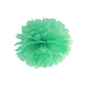 Mint Green Tissue Pom Pom Party Decoration - My Dream Party Shop I UK