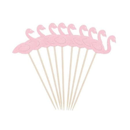 Pink Flamingo Cupcake Toppers I Flamingo Party Supplies I My Dream Party Shop UK