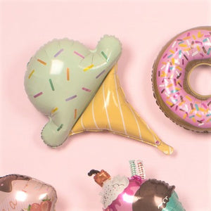 Pastel Green Giant Foil Ice Cream Balloon with Sprinkles I Summer Party Balloons I My Dream Party Shop I UK
