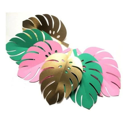 Mini Palm Leaf Cake Toppers I Tropical Party Decorations I My Dream Party Shop UK