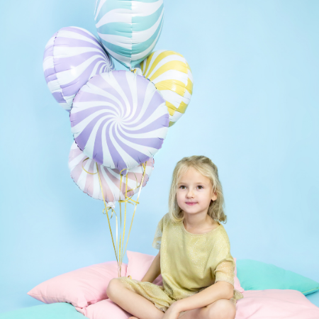Pastel Candy Swirl Balloons Set of 5 I Helium Balloons Ruislip I My Dream Party Shop