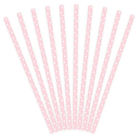 Pastel Pink Polka Dot Straws I Pretty Pink Tableware I My Dream Party Shop