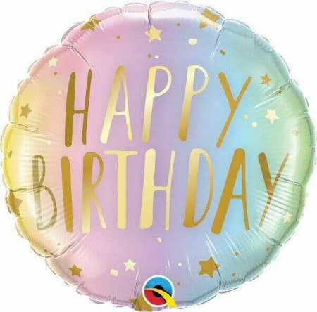 Pastel Rainbow Ombre Happy Birthday Balloon I Pastel Party Supplies I My Dream Party Shop UK