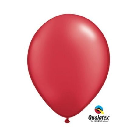 Pearl Ruby Red 11 Inch Balloons I Red Party Supplies I My Dream Party Shop UK