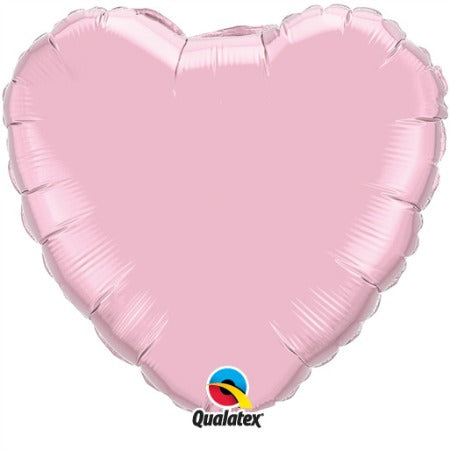 "Pearl Pink 18"" Heart Foil Balloon - My Dream Party Shop"