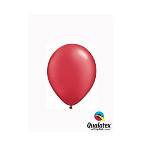 Pearl Ruby Red 5 Inch Balloons by Qualatex  I Cool Party Balloons I My Dream Party Shop I UK