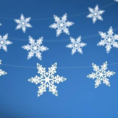 White Snowflake Garland I Frozen Party Decorations I My Dream Party Shop I UK