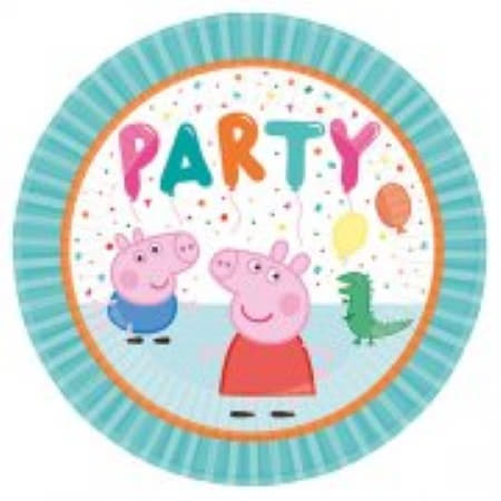 Peppa Pig Party Brights Plates I Peppa Pig Party Supplies I My Dream Party Shop UK