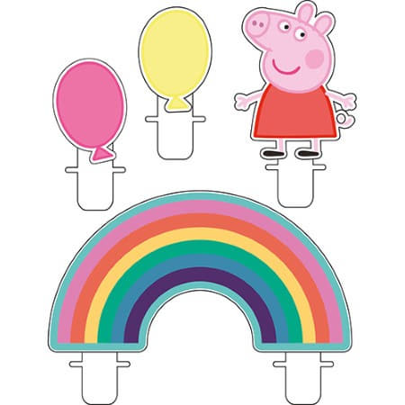 Peppa Pig Cake Topper Candles I Peppa Pig Party Supplies I My Dream Party Shop UK