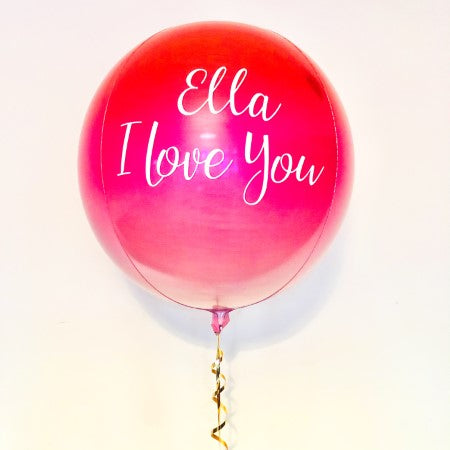 Personalised Orbz Balloon I Helium Collection Ruislip I My Dream Party Shop