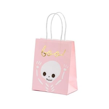Pink Boo Halloween Treat Bags I Pink and Black Halloween Party I My Dream Party Shop UK