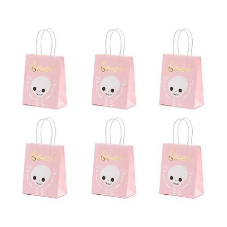 Pink Boo Halloween Treat Bags I Halloween Party Supplies I My Dream Party Shop UK